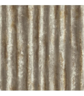 2922-22334 - Trilogy Wallpaper by A Street-Kirkland Corrugated Metal