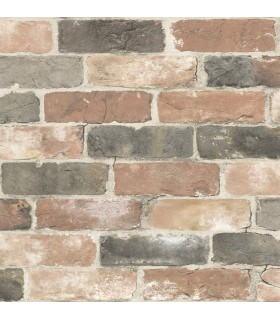 2922-22320 - Trilogy Wallpaper by A Street-Rustin Reclaimed Bricks