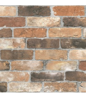 2922-22300 - Trilogy Wallpaper by A Street-Rustin Reclaimed Bricks