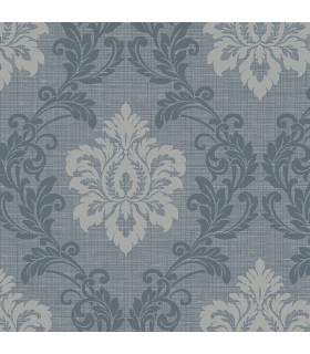 2765-BW40102 - GeoTex Wallpaper by Kenneth James-Adela Twill Damask