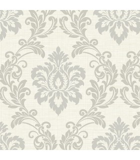 2765-BW40108 - GeoTex Wallpaper by Kenneth James-Adela Twill Damask