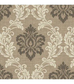 2765-BW40101 - GeoTex Wallpaper by Kenneth James-Adela Twill Damask