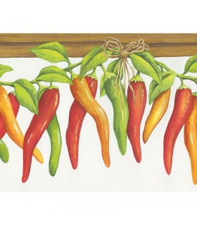 KV79527 -Chili Peppers On Vine Border Special