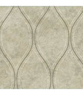 2765-BW40208 - GeoTex Wallpaper by Kenneth James-Eira Marble Ogee