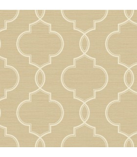 2765-BW40507 - GeoTex Wallpaper by Kenneth James-Malo Sisal Ogee
