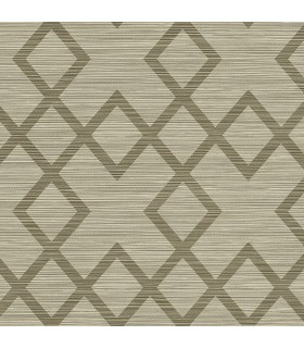 2765-BW40406 - GeoTex Wallpaper by Kenneth James-Vana Woven Diamond