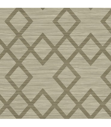 2765-BW40406 - GeoTex Wallpaper by Kenneth James-Vana Woven Diamond