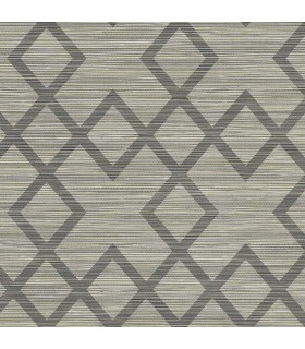 2765-BW40405 - GeoTex Wallpaper by Kenneth James-Vana Woven Diamond