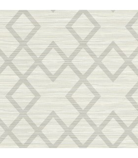2765-BW40408 - GeoTex Wallpaper by Kenneth James-Vana Woven Diamond