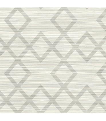 2765-BW40408 - GeoTex Wallpaper by Kenneth James-Vana Woven Diamond