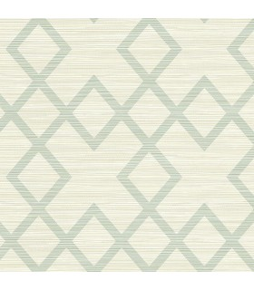 2765-BW40404 - GeoTex Wallpaper by Kenneth James-Vana Woven Diamond