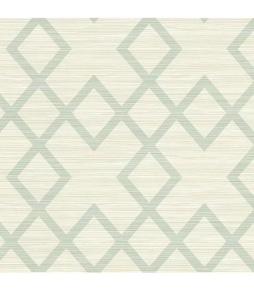 2765-BW40404 - GeoTex Wallpaper by Kenneth James-Vana Woven Diamond