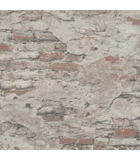 RH625554 - Rasch Wallpaper-Templier Distressed Brick