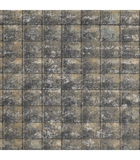 2909-NEW-1013 - Riva Wallpaper by Brewster-Nigel Faux Tile Texture