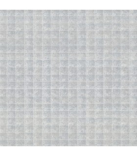 2909-NEW-1011 - Riva Wallpaper by Brewster-Nigel Faux Tile Texture