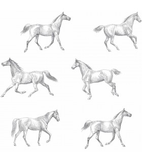 DD128807 -Origin Luxury Wallpaper by Estahome-Burnett Horses