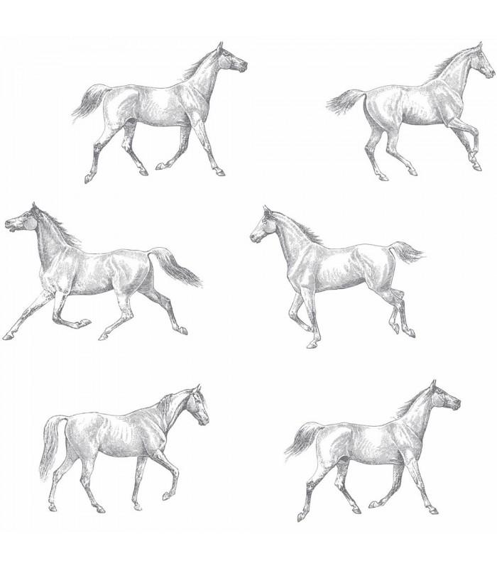 DD128807 -Origin Luxury Wallpaper by Estahome-Burnett Horses
