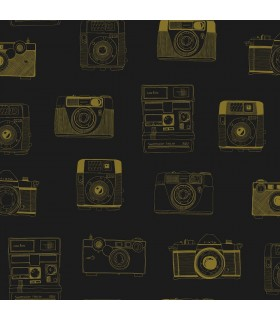 DD128825 -Origin Luxury Wallpaper by Estahome-Pinkins Retro Camera