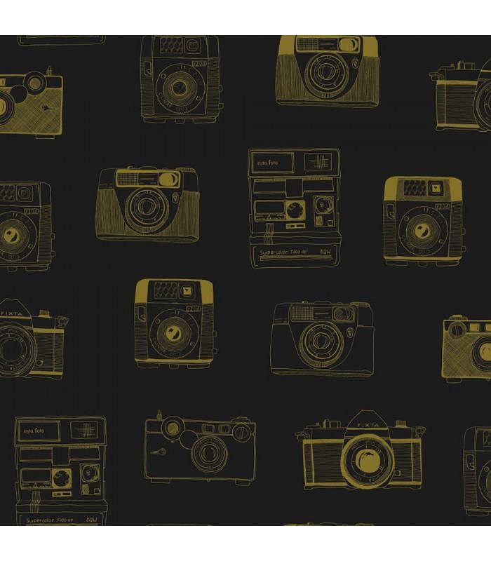 DD128825 -Origin Luxury Wallpaper by Estahome-Pinkins Retro Camera