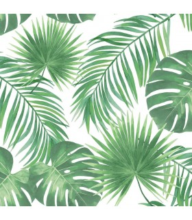 DD139013 -Origin Luxury Wallpaper by Estahome-Patti Green Leaves