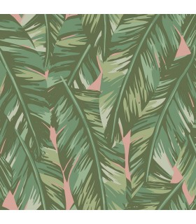 DD139015 -Origin Luxury Wallpaper by Estahome-Dumott Tropical Leaves