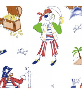 CM28614 -Pirate Wallpaper Norwall Special