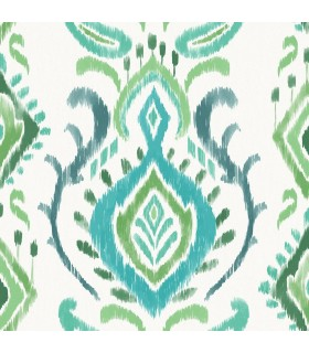 DD148647 -Origin Luxury Wallpaper by Estahome-Bowles Green Damask