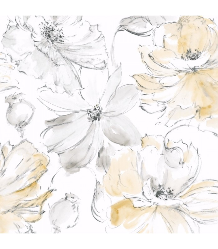 CL2518 - Impressionist Wallpaper by York-Floral Dreams