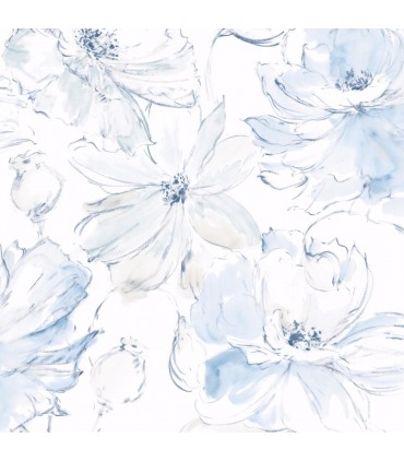 CL2519 - Impressionist Wallpaper by York-Floral Dreams