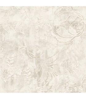 CL2589 - Impressionist Wallpaper by York-Entablature Scroll