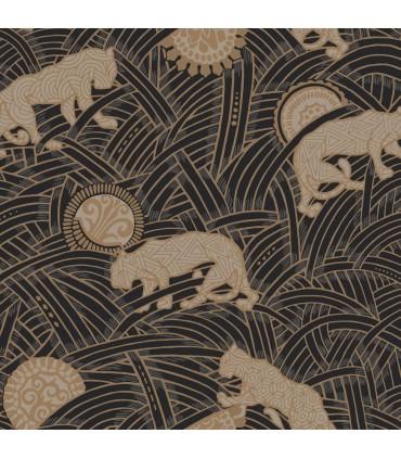 AF6550 - Tea Garden Wallpaper by Ronald Redding-Tibetan Tigers