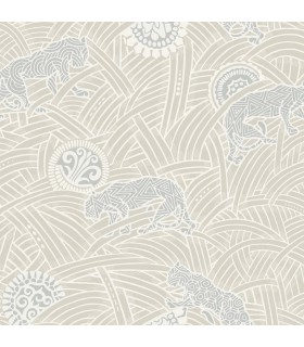 AF6553 - Tea Garden Wallpaper by Ronald Redding-Tibetan Tigers