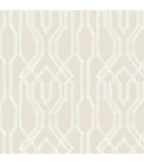AF6557 - Tea Garden Wallpaper by Ronald Redding-Oriental Lattice