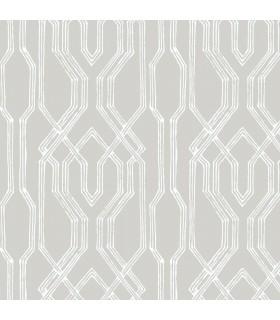 AF6558 - Tea Garden Wallpaper by Ronald Redding-Oriental Lattice