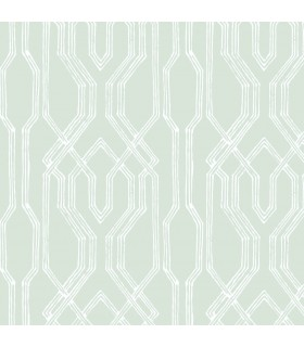 AF6559 - Tea Garden Wallpaper by Ronald Redding-Oriental Lattice