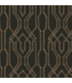AF6562 - Tea Garden Wallpaper by Ronald Redding-Oriental Lattice