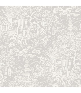 AF6573 - Tea Garden Wallpaper by Ronald Redding-Chinoiserie