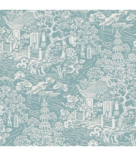 AF6575 - Tea Garden Wallpaper by Ronald Redding-Chinoiserie