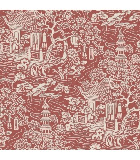 AF6576 - Tea Garden Wallpaper by Ronald Redding-Chinoiserie