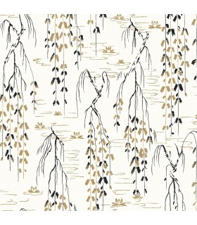 AF6581 - Tea Garden Wallpaper by Ronald Redding-Willow Branches