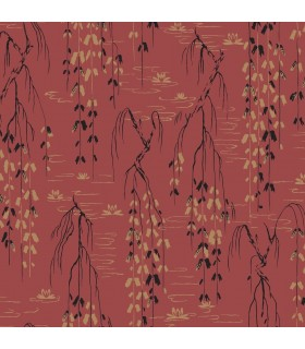 AF6585 - Tea Garden Wallpaper by Ronald Redding-Willow Branches