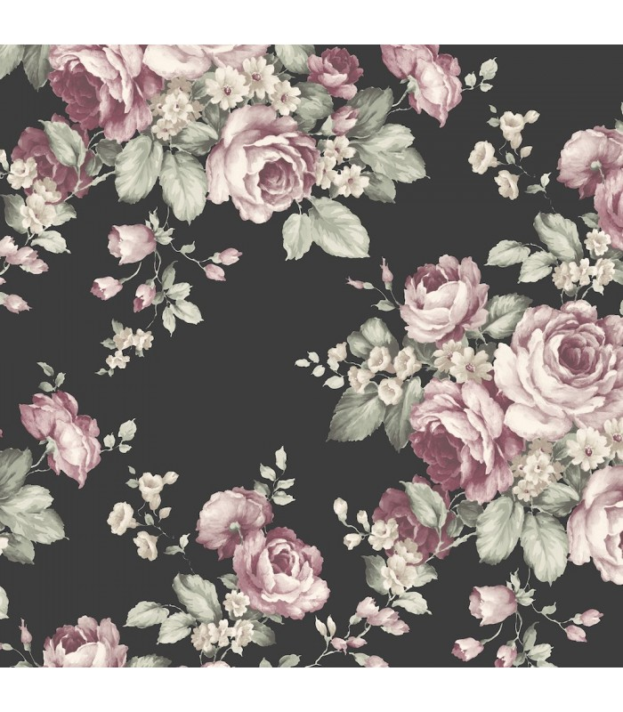 Af37700 Flourish Wallpaper By Norwall Floral Wallpaper