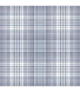 AF37718 - Flourish Wallpaper by Norwall-Plaid