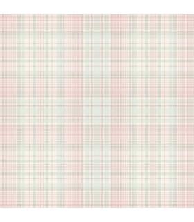AF37723 - Flourish Wallpaper by Norwall-Plaid