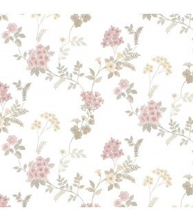 AF37732 - Flourish Wallpaper by Norwall-Floral