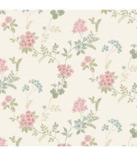 AF37734 - Flourish Wallpaper by Norwall-Floral