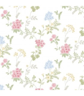 AF37735 - Flourish Wallpaper by Norwall-Floral