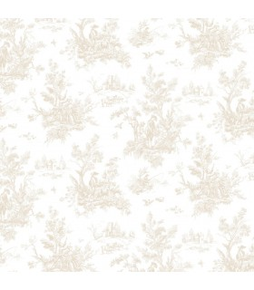 AB27655 - Flourish Wallpaper by Norwall-Victorian Toile