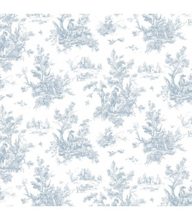 AB27656 - Flourish Wallpaper by Norwall-Victorian Toile
