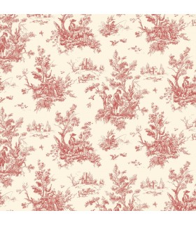AB27657 - Flourish Wallpaper by Norwall-Victorian Toile